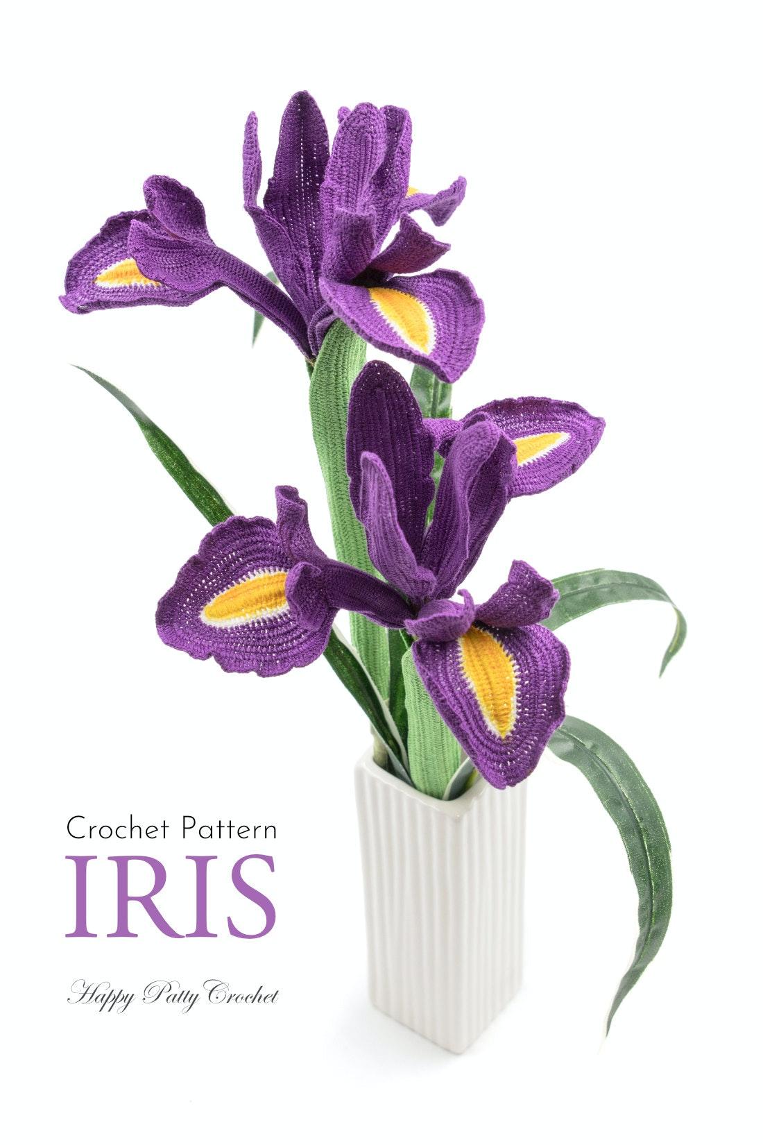 iris � happy patty crochet  irish crochet flower tutorial