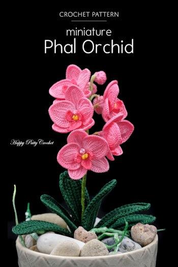 Mini Phal Orchid pattern by Happy Patty Crochet in 2020 | Crochet ... | 525x350